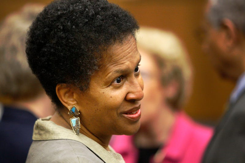 Magistrate Judge Deborah A. Robinson is pictured before the start of a ceremony at the federal courthouse in Washington, D.C., on May 1, 2008. (Charles Dharapak/AP Images)