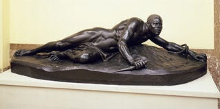 Victor Van Hove, Vengeance; before 1859. Painted plaster, 71 by 225 cm. Ronse, Town Hall (on loan from Brussels)