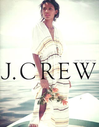 Illustration for article titled J.Crew's Summer Abroad: Sweet Swimsuits, Sharp Shorts & Dreadful Dresses