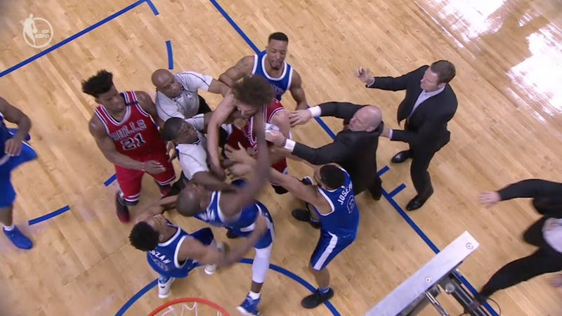 Raptors' Serge Ibaka's Explanation For Fight Vs. Bulls' Robin Lopez Is Understandable