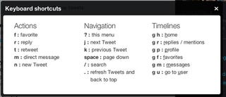 Illustration for article titled Twitter Beefs Up Navigation with More Great Keyboard Shortcuts