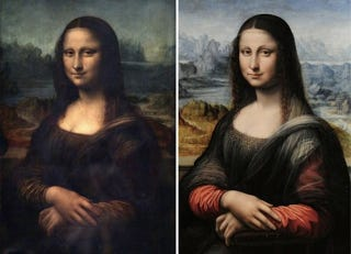 Illustration for article titled Second Mona Lisa may have been painted at the same time as the original