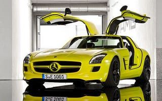 Illustration for article titled Mercedes-Benz SLS AMG E-Cell: Gullwing, Electrified
