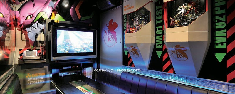 Illustration for article titled Karaoke Parlor With Official Final Fantasy And Evangelion Themed Rooms