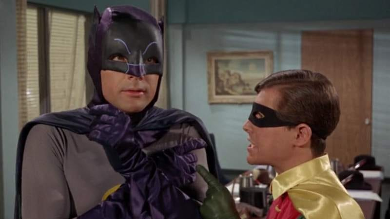 Adam West and Burt Ward as the Dynamic Duo in the 1960s show
