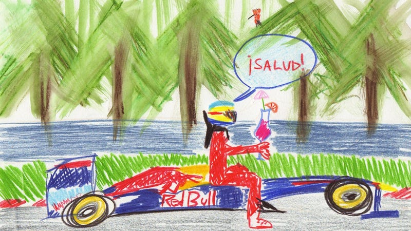 Illustration for article titled The 2011 German Grand Prix in Crayola