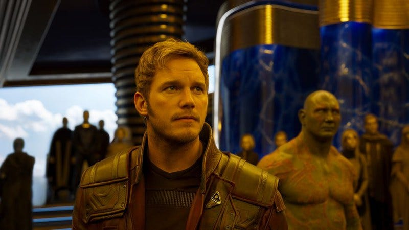 We can't even look at you right now, Chris Pratt. (Photo: Marvel Studios/Disney)