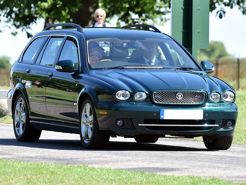 Illustration for article titled Queen Elizabeth Still drives an X-Type Estate