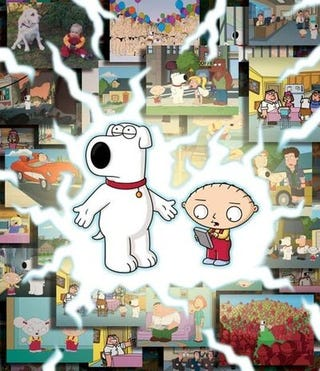 """Illustration for article titled Brian and Stewie Hit """"The Road To The Multiverse"""""""