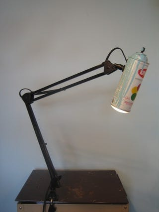 Illustration for article titled Spray Paint Lamp Tags Your Desk with Light