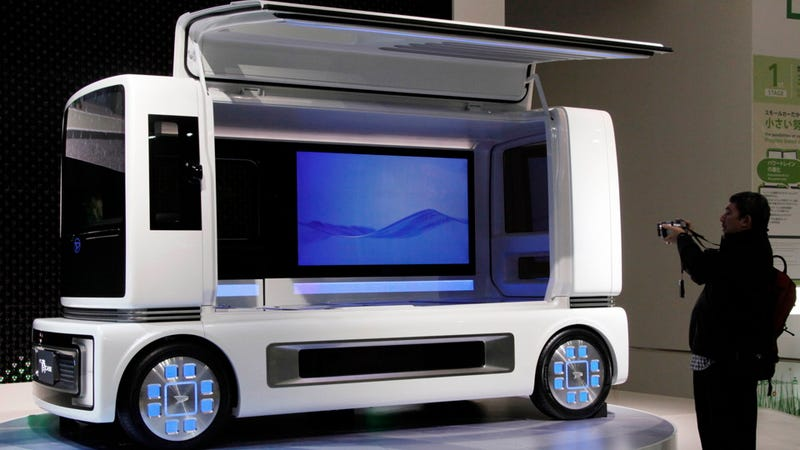 Illustration for article titled This Daihatsu concept car is a mobile home theater