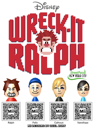 Illustration for article titled Bring Wreck-It Ralph to Your 3DS With These Mii Codes