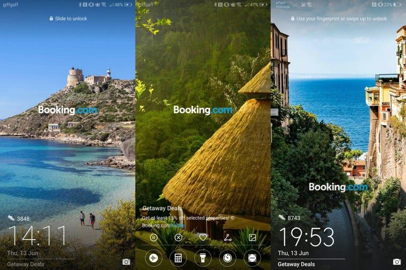 Illustration for article titled Huawei ha decidido mostrar publicidad de Booking en la pantalla de bloqueo de sus teléfonos