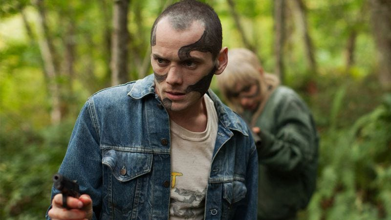 Anton Yelchin in Green Room (Not pictured: Kelsey Grammer and Ron Perlman in a good-old-fashioned Beast-Off)