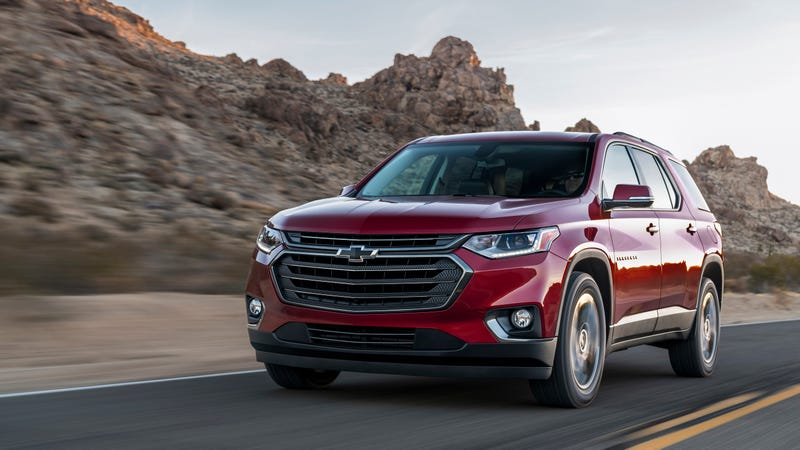 Illustration for article titled The 2018 Chevrolet Traverse RS Sounds Pretty Tame