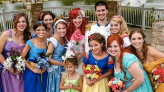 Illustration for article titled This is the most impressive Disney Princess wedding we've ever seen