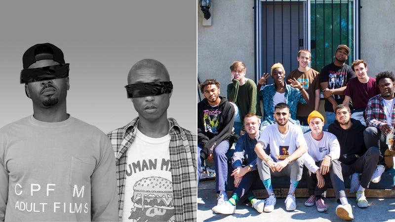 Shay Haley and Pharrell Williams of N.E.R.D. (Photo: 24 West) and Brockhampton (Photo: Ashlan Grey)
