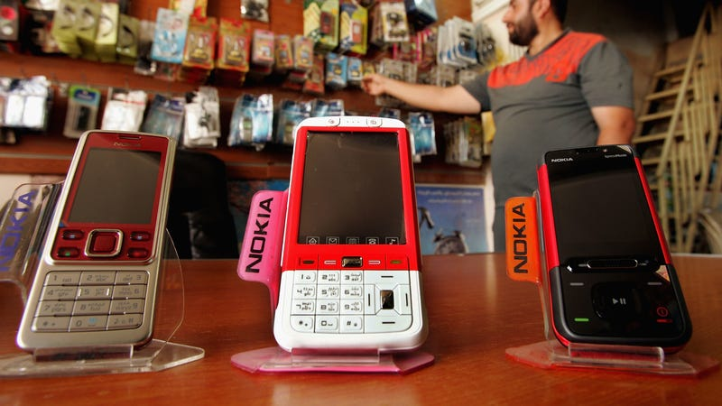 Mobile phones are displayed for sale on June 26, 2008 in Baghdad, Iraq. (Photo: Getty)