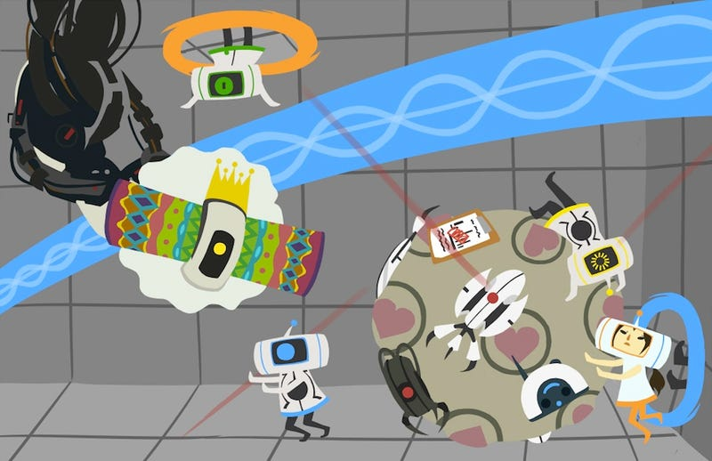 Illustration for article titled The World of Katamari Damacy Infused With Portal Looks Like This
