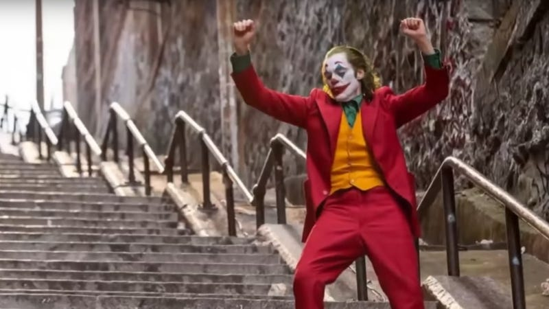 Illustration for article titled That dastardly Joker is now dancing on anything but those stairs