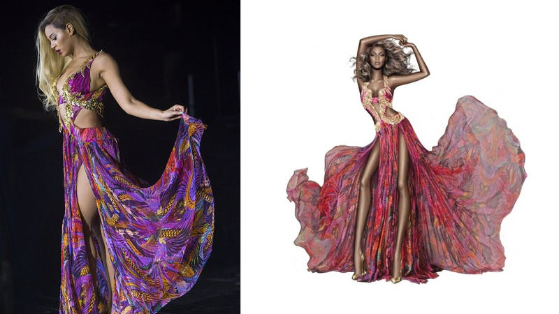 Illustration for article titled Roberto Cavalli Press Release Turns Beyonce into a Bratz Doll