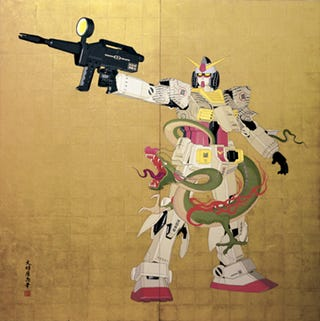 Illustration for article titled The $600,000 Gundam Painting