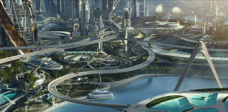 Illustration for article titled Behold The Glorious Retrofuturistic City FromTomorrowland's Concept Art