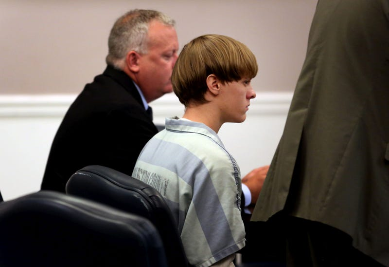 Dylan Roof (right), the suspect in the mass shooting that left nine dead in a Charleston, S.C., church in June 2015, appears in court accompanied by assistant defense attorney William Maguire July 18, 2015, in Charleston, S.C.Grace Beahm-Pool/Getty Images)