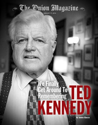 Illustration for article titled We Finally Get Around To Remembering Ted Kennedy