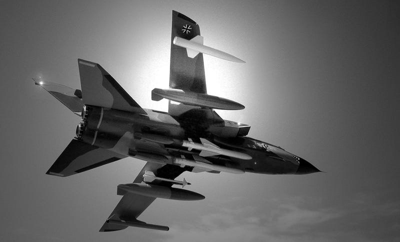 Illustration for article titled You Won't Believe These Soaring Fighter Jets Are Just Toys