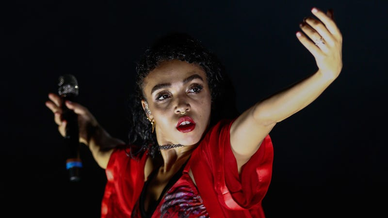 FKA Twigs performs at Lollapalooza music festival in 2015.