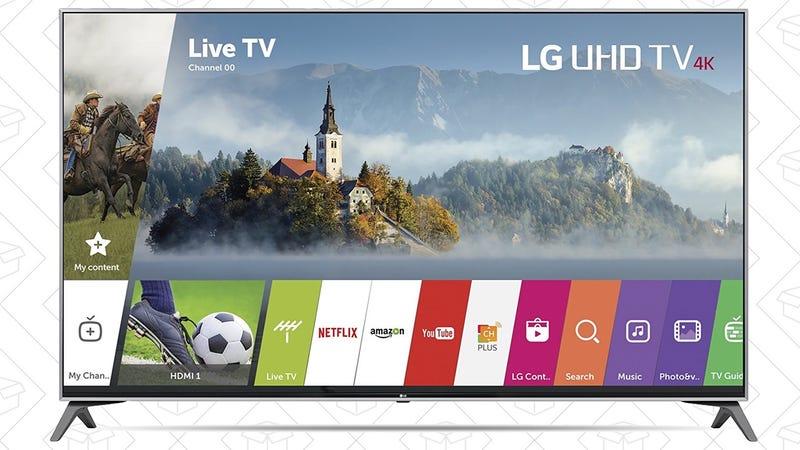 LG 49UJ7700 4K TV, $579