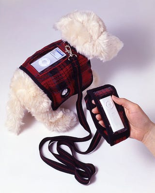 Illustration for article titled iPod Dock Converts Dog into Walking Barking Boombox