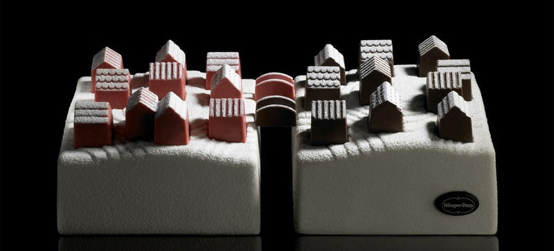 Illustration for article titled These Lego-Like Ice Cream Villages Connect With Chocolate Bridges