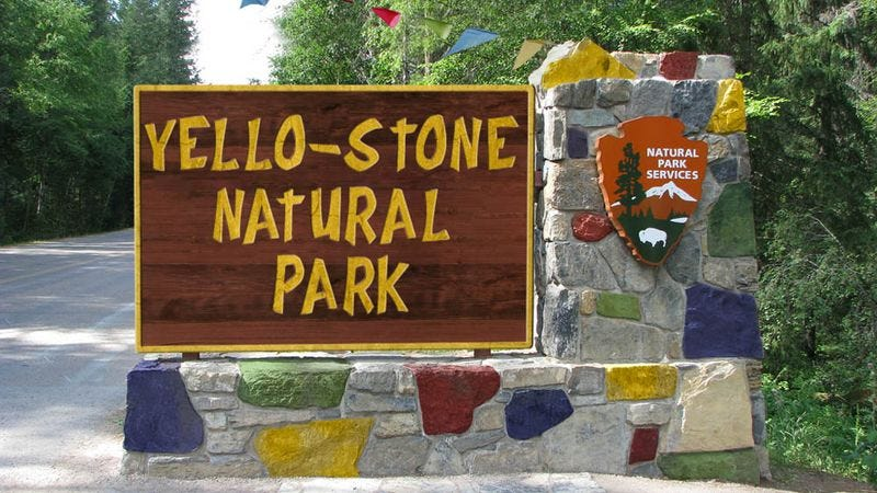 """Yellowstone officials say the competing park is a """"cut-rate knockoff."""""""
