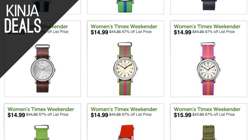 Illustration for article titled Timex's Popular Weekender Watches Are Only About $20 Today