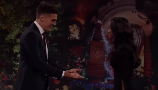 Dean and Rachel on reality TV's The Bachelorette (YouTube screenshot)