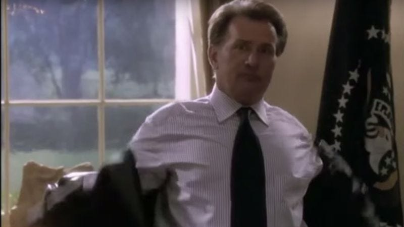Illustration for article titled Supercut proves Martin Sheen sure did flip his jacket a lot on The West Wing