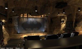 Illustration for article titled Batcave Home Theater is an Ideal Location to Make Out With Catwoman
