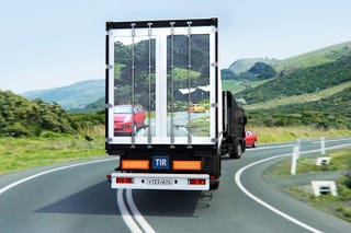 Illustration for article titled Transparent Truck System Could Actually Save Lives