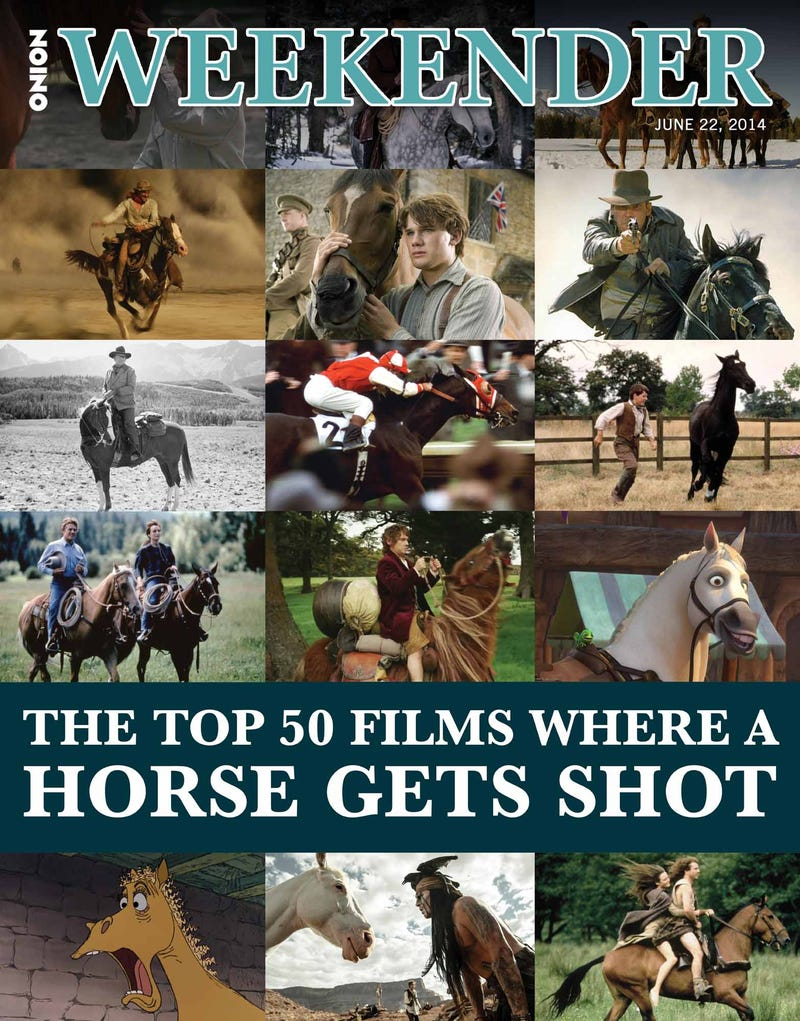 Illustration for article titled The Top 50 Films Where A Horse Gets Shot