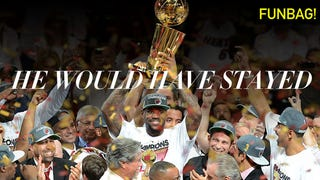 Illustration for article titled Would LeBron Still Be In Miami If The Heat Had Won Their Third Title?