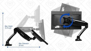 Soporte de escritorio FLEXIMOUNTS | $33 | Amazon | Código promocional NYNAJMPA
