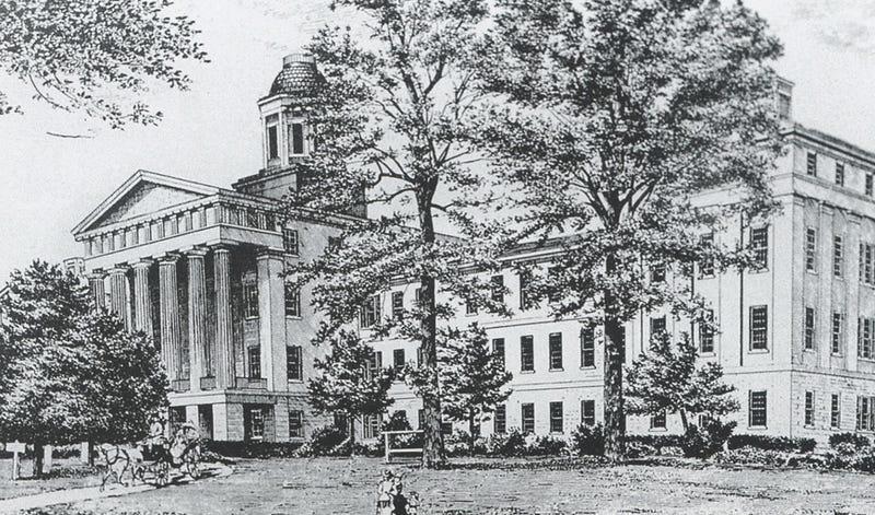 El Mississippi State Insane Hospital. Imagen: Mississippi State University