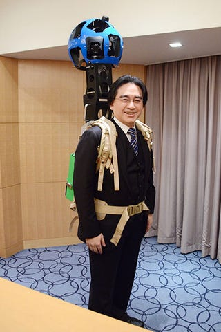Illustration for article titled Ever Wonder What Nintendo's President Looks Like As A Walking Google Camera?