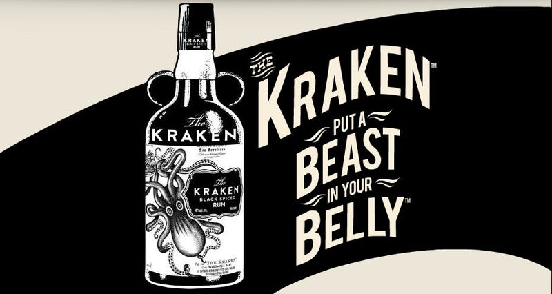 Illustration for article titled Unleash the Kraken all over your friends this NYE with Kraken Rum