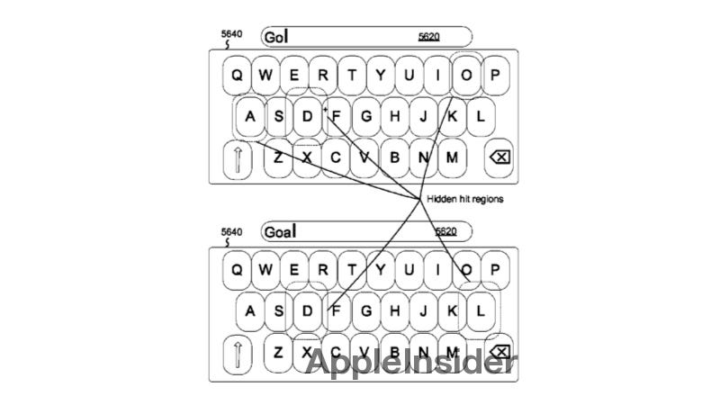 Illustration for article titled The iPhone's Future Predictive Keyboard Makes Certain Keys Larger Without You Ever Noticing (Updated)