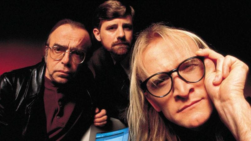 The X-Files' Lone Gunmen, trying to figure out who benefits from this obvious CIA smokescreen.