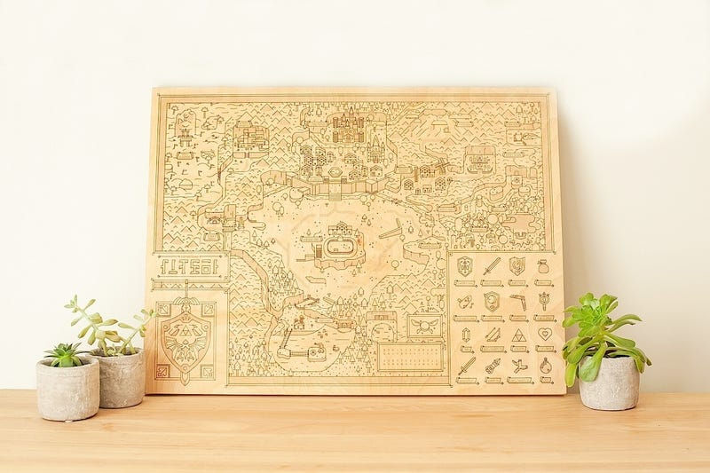 Illustration for article titled Accurate Zelda Map Means You'll Never Get Lost In The Woods Again