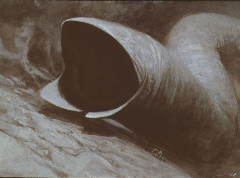 """Illustration for article titled """"The Only Artist to have Visited Dune"""""""